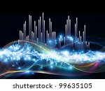 interplay of fractal waves ... | Shutterstock . vector #99635105