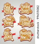 vintage label vector set | Shutterstock .eps vector #99655082