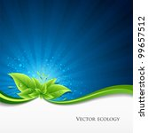 Vector Green Leaves Ecology On...