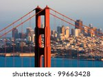 golden gate bridge and downtown ... | Shutterstock . vector #99663428