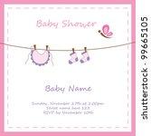 baby girl shower invitation | Shutterstock . vector #99665105