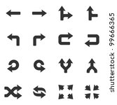 Arrows icons set.