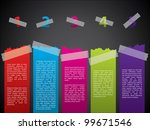 colorful taped label set with... | Shutterstock .eps vector #99671546