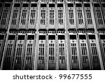 data center with hard drives | Shutterstock . vector #99677555