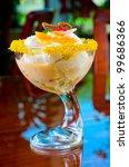 Ice cream dessert - stock photo