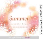 Summer. Four Seasons Calendar...