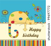 baby greeting card | Shutterstock .eps vector #99697772