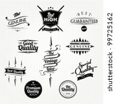 vintage styled premium quality... | Shutterstock .eps vector #99725162