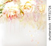 Watercolor Painting Bouquet Of...