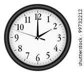 wall clock on white background. | Shutterstock .eps vector #99732212