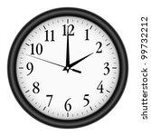 wall clock on white background. | Shutterstock .eps vector #99732212