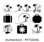 travel set | Shutterstock .eps vector #99733646