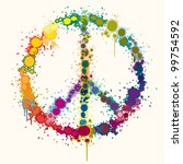 rainbow color peace sign... | Shutterstock .eps vector #99754592