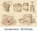 vineyard original hand drawn... | Shutterstock .eps vector #99763166