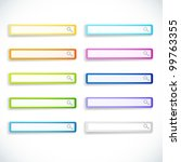 set of color search bars....   Shutterstock .eps vector #99763355