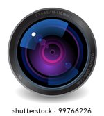 icon for camera lens. white...