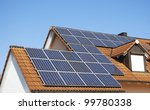Solar Panels On The House Roof