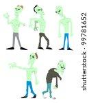 cartoon zombie | Shutterstock .eps vector #99781652