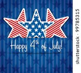 happy 4th of july sticker cards ... | Shutterstock .eps vector #99785315