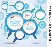 abstract design speech bubble... | Shutterstock .eps vector #99786602