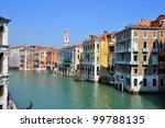 a view of the canal grande  ... | Shutterstock . vector #99788135