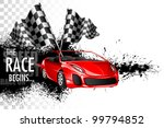 illustration of racing car with ... | Shutterstock .eps vector #99794852