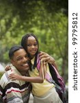 portrait of african father and... | Shutterstock . vector #99795812
