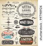 vector set of calligraphic... | Shutterstock .eps vector #99798926