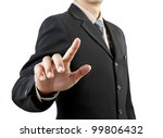 businessman hand pushing screen ... | Shutterstock . vector #99806432