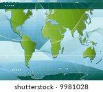 communication  abstract world... | Shutterstock .eps vector #9981028
