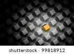 render of a golden house... | Shutterstock . vector #99818912