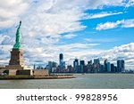 the statue of liberty and... | Shutterstock . vector #99828956