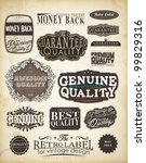 retro style label collection... | Shutterstock .eps vector #99829316