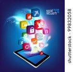 stylish conceptual social... | Shutterstock .eps vector #99832058
