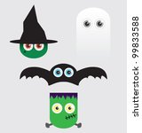 halloween cartoon vectors | Shutterstock .eps vector #99833588