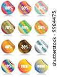 set of 12 glossy sales tags...   Shutterstock .eps vector #9984475