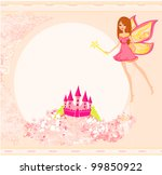 fairy flying above castle | Shutterstock .eps vector #99850922