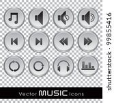 set of glossy music web icons... | Shutterstock .eps vector #99855416
