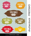 set of elegant but simple... | Shutterstock .eps vector #99855845
