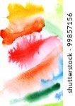 abstract watercolor hand... | Shutterstock . vector #99857156