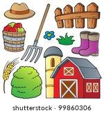 farm theme collection 1  ... | Shutterstock .eps vector #99860306