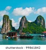 floating fishing village in... | Shutterstock . vector #99861842