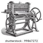 paper cutting machine   vintage ... | Shutterstock .eps vector #99867272