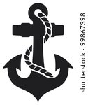 anchor vector illustration | Shutterstock .eps vector #99867398