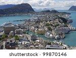 alesund  norway    summer ... | Shutterstock . vector #99870146
