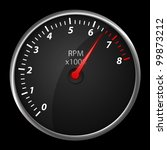 modern auto speed meter on...   Shutterstock . vector #99873212