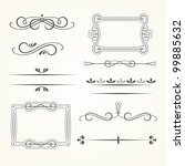 vector set of calligraphic... | Shutterstock .eps vector #99885632
