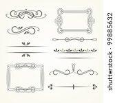 vector set of calligraphic... | Shutterstock .eps vector #99885632