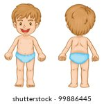 illustration of young boy front ... | Shutterstock .eps vector #99886445