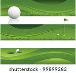 green abstract golf background...   Shutterstock .eps vector #99899282